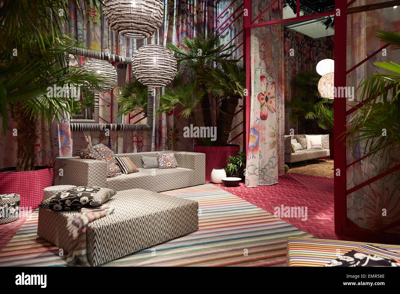 MILAN, ITALY   APRIL 14: Milan Design Week, Missoni Home Stand At Salone  Del Mobile Opening On April 15, 2015 In Milan.