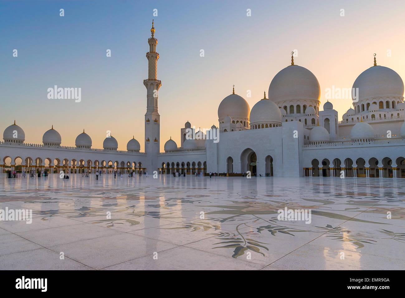Sheikh Zayed Grand Mosque - Stock Image