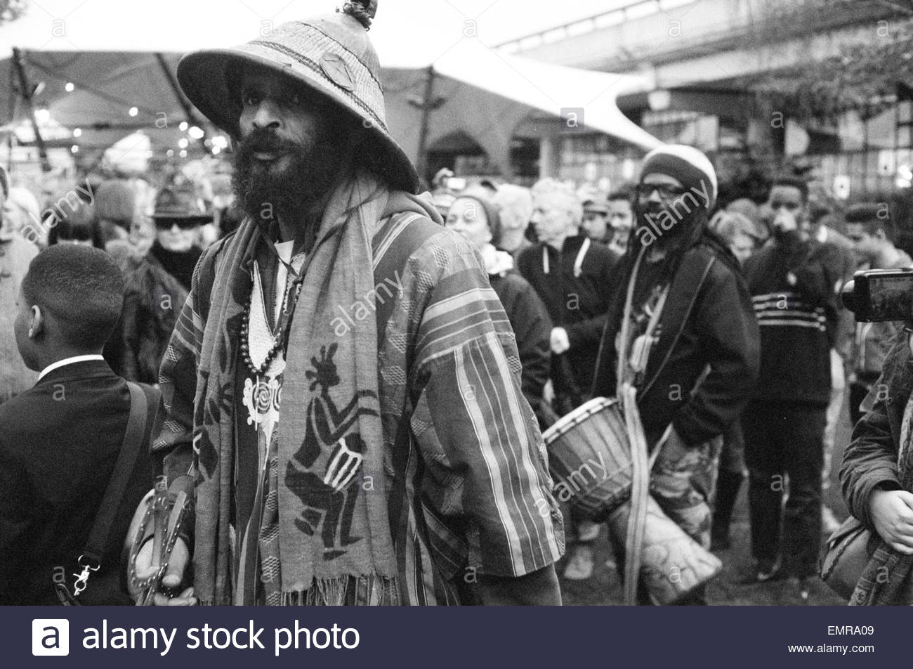 19th April 2015, Ras Asheber AKA Niles Hailstones a spokesperson for westway23, a local Notting Hill pressure group - Stock Image