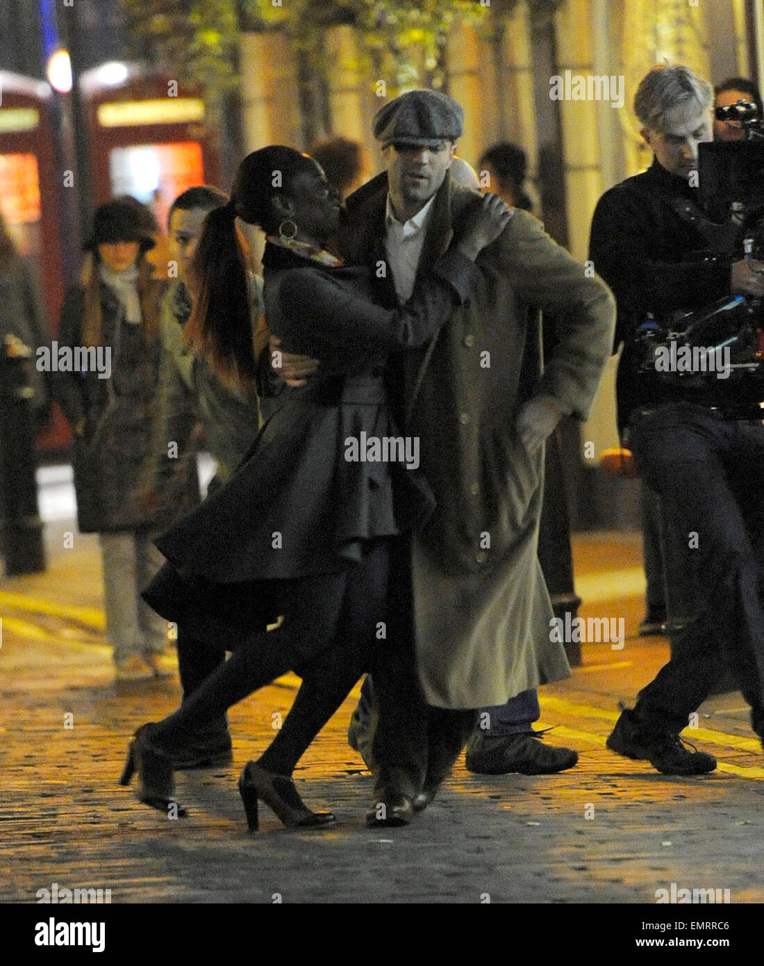 22.MARCH. LONDON  JASON STATHAM FILMING SCENES FOR HIS NEW FILM HUMMINGBIRD IN SOHO AT 2.30AM, WHERE HE ATTACKS Stock Photo