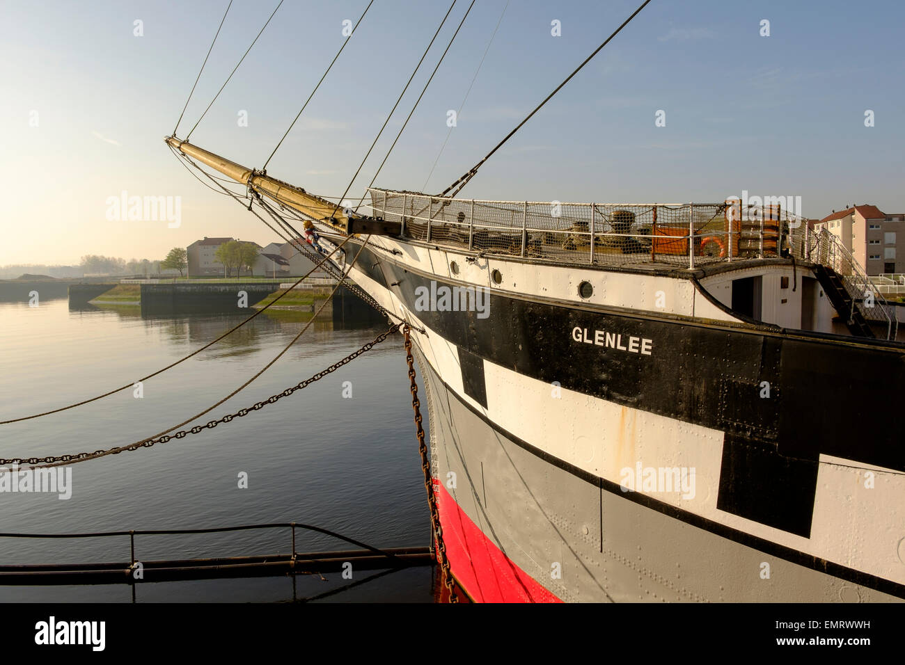 The Glenlee clipper ship situated on the River Clyde in Glasgow, Scotland, UK - Stock Image