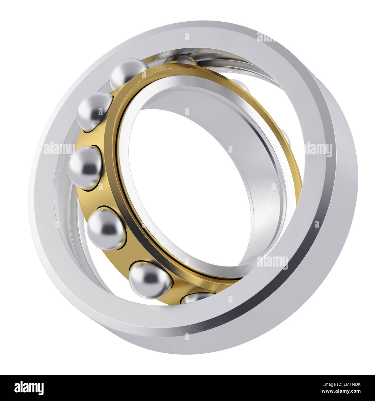 Metal whirling bearing with attrition. - Stock Image