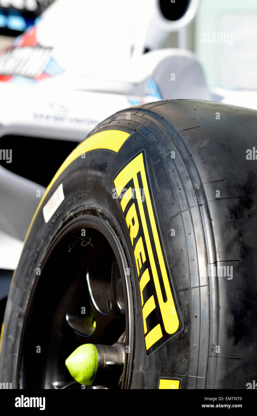 2014 Williams Formula One Car   Pirelli P Zero Slick Tyre   Stock Image