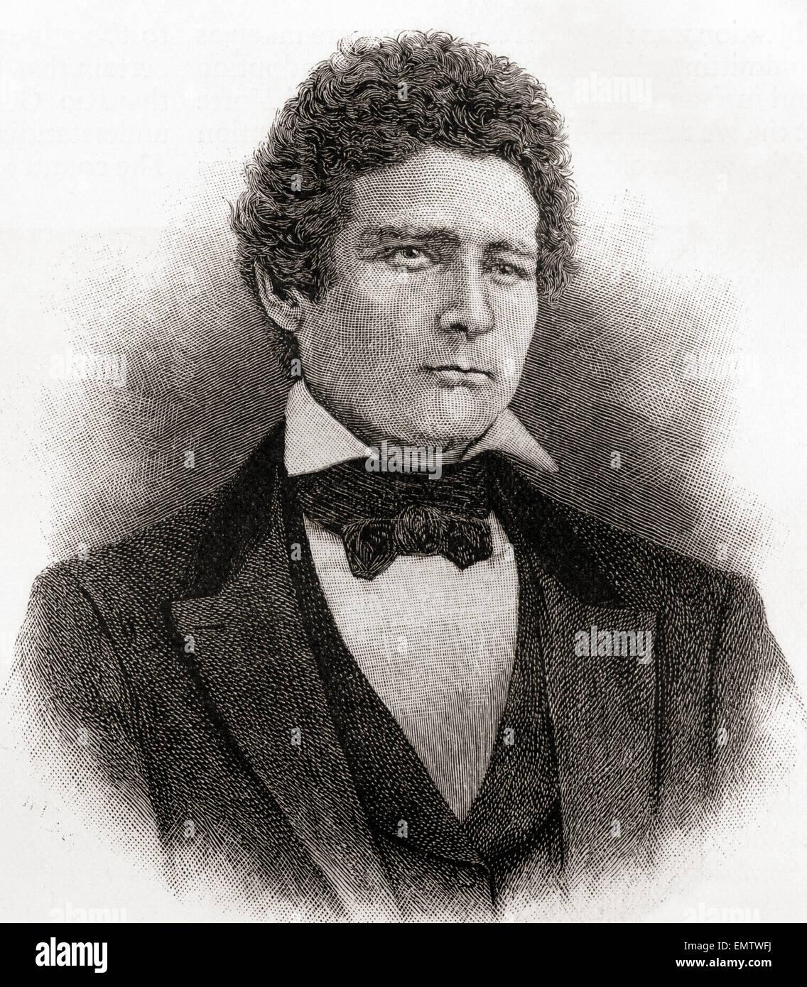 John J. Hardin, 1810 – 1847.   U.S. Representative and militia general from Illinois. - Stock Image
