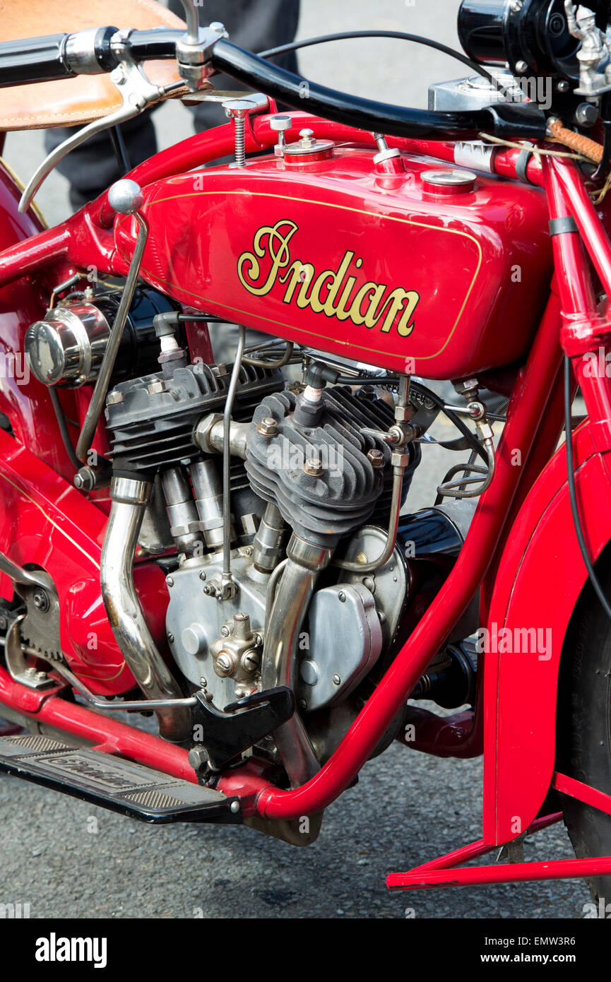 1926 Indian Scout motorcycle. Classic American motorcycle - Stock Image