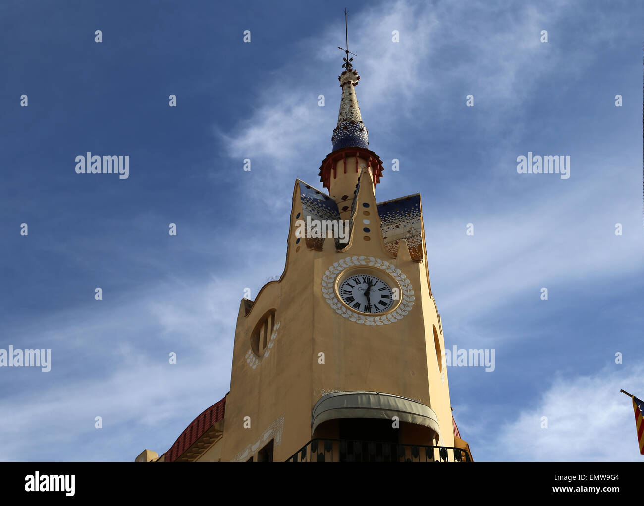 Spain. Catalonia. Sitges. Modernism Bartholomew Carbonell House. - Stock Image