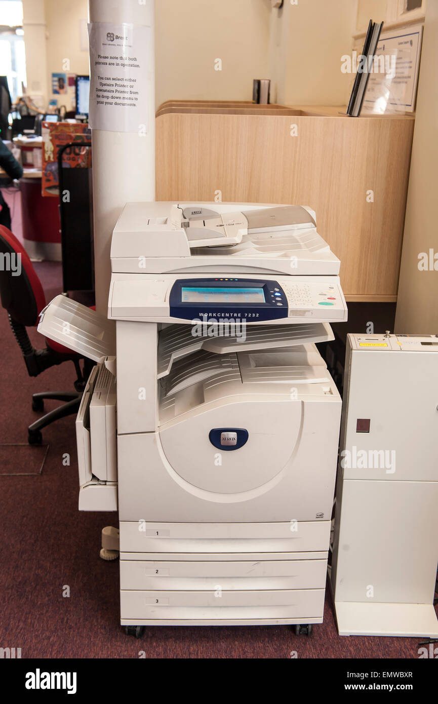 Copymachine at the harlesden library in the London borough of Brent - Stock Image