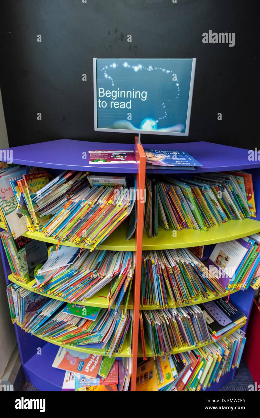 Children's library books in Harlesden in the London borough of Brent - Stock Image