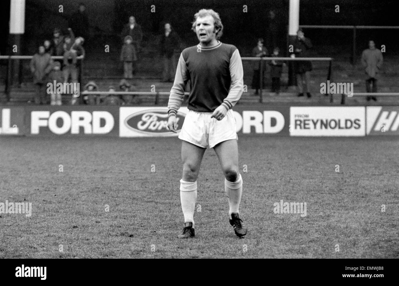 West Ham Footballer: Bobby Moore. March 1974 S74-1531-005 - Stock Image