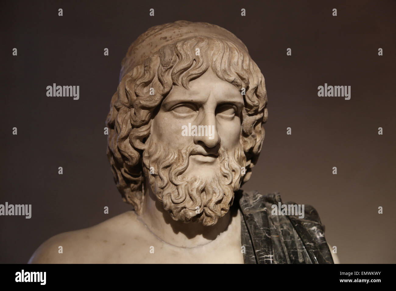 Bust of Pluto (Greek Hades). God of the underworld. Roman copy. Ludovisi Collection. National Roman Museum.  Altemps. Stock Photo
