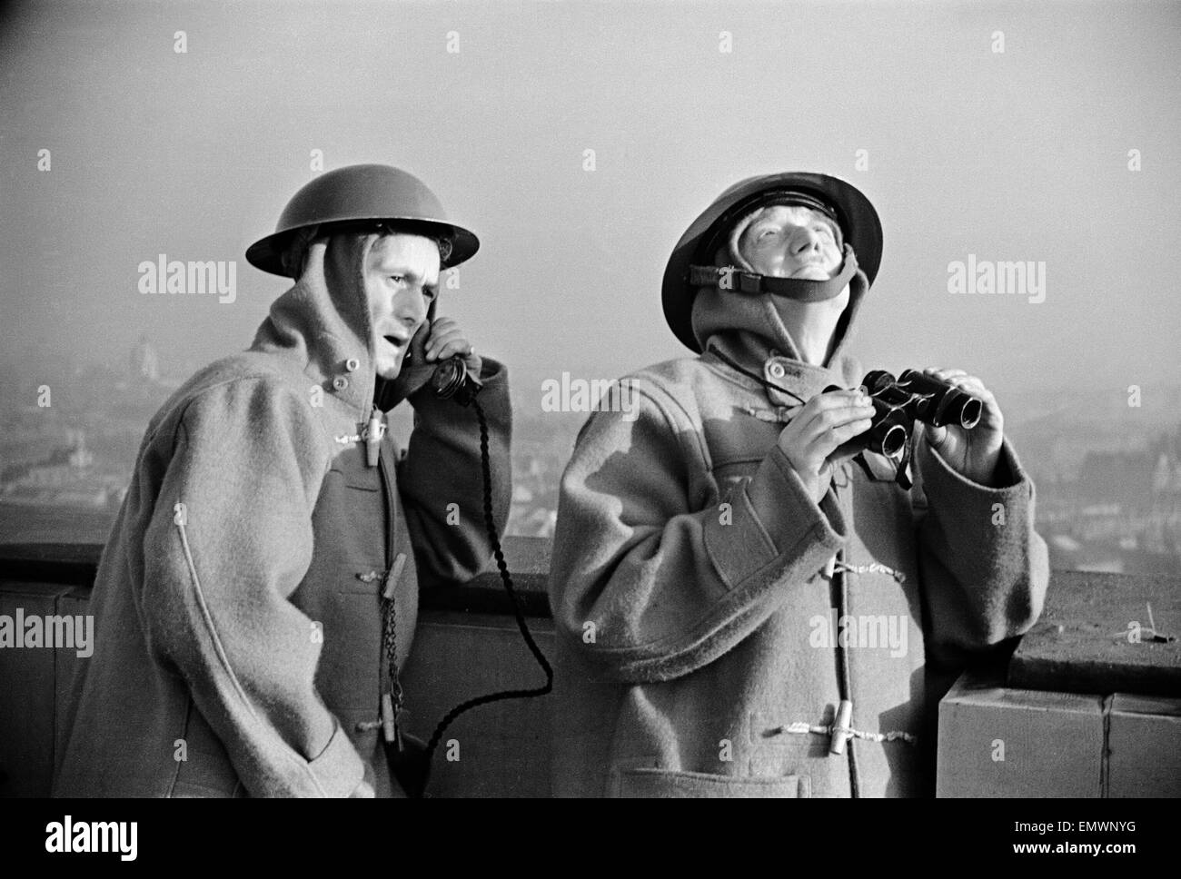 L.F.S HQ Observer post and fire watchers. - Stock Image