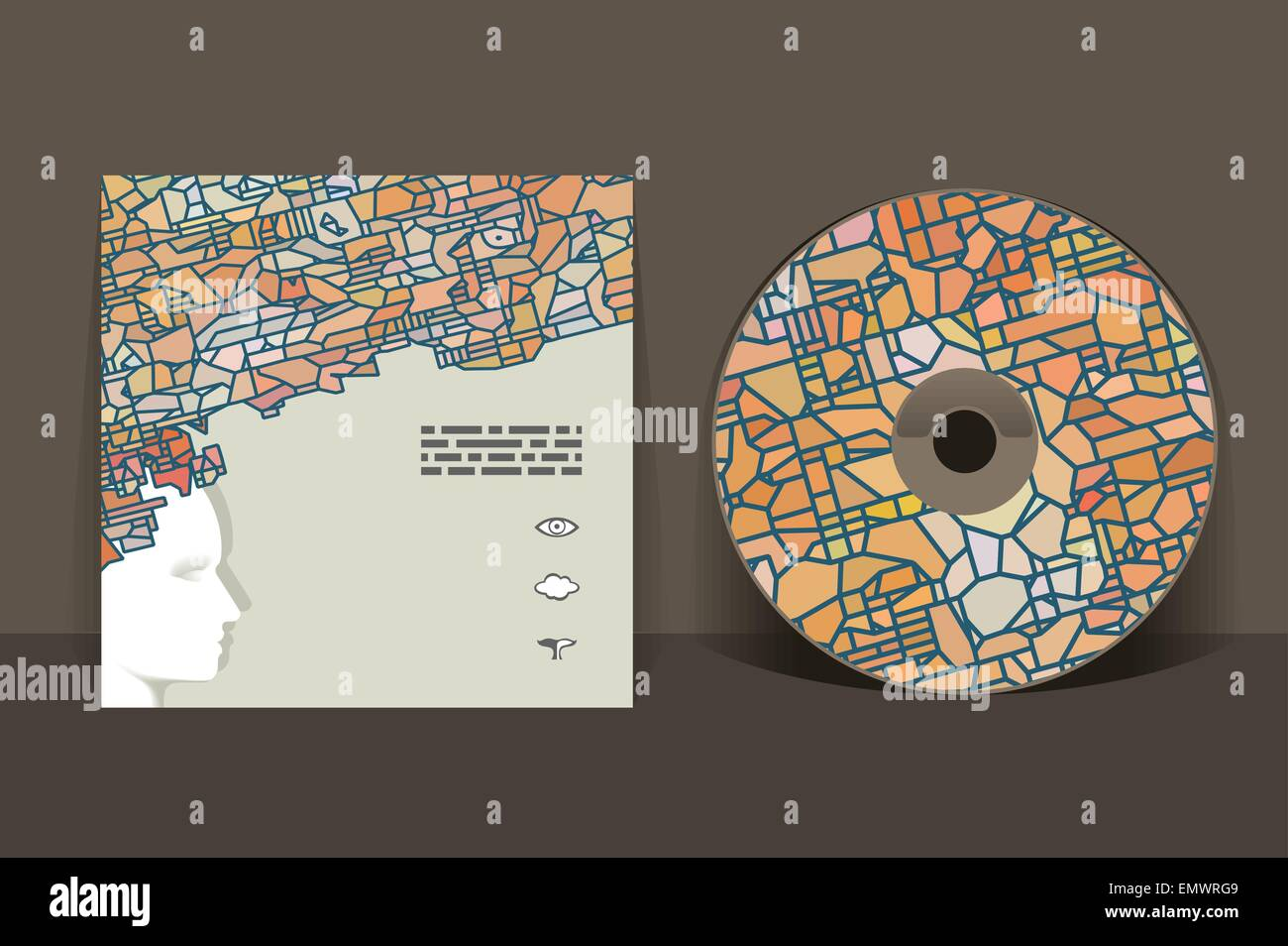 cd cover design template abstract pattern graphics stock vector art