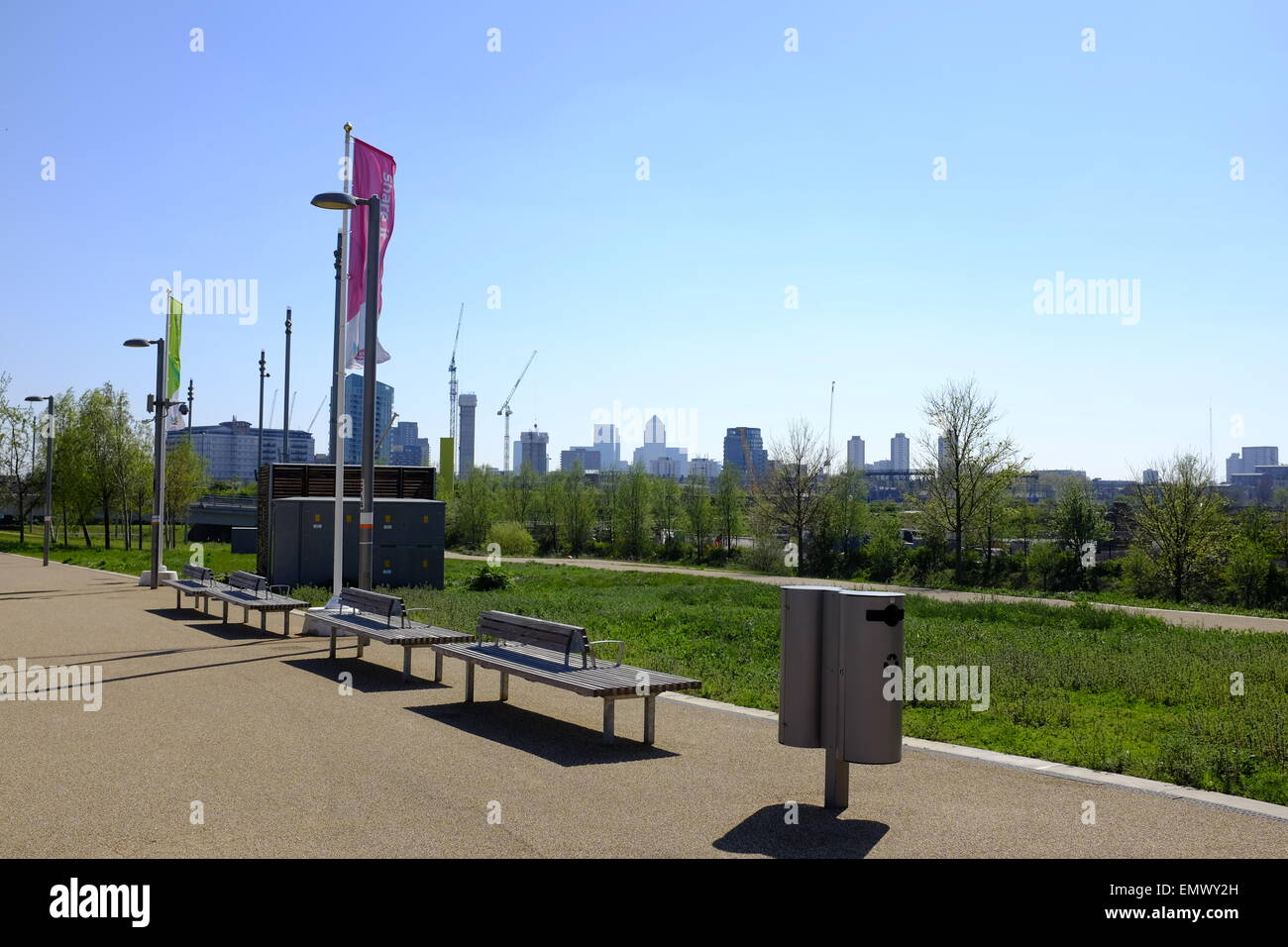 Queen Elizabeth II Olympic Park, in London, United Kingdom, is a sporting complex built for the 2012 Summer Olympics - Stock Image