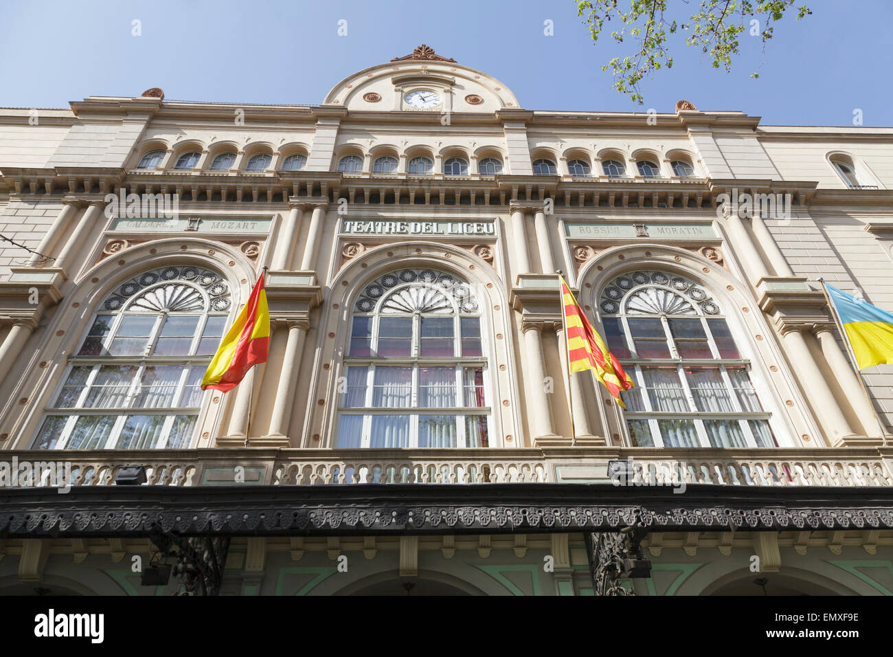 Teatre del Liceu, Barcelona, Catalonia, Spain - Stock Image