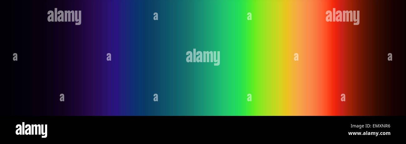 Illustration based on emission spectrum of visible light - Stock Image