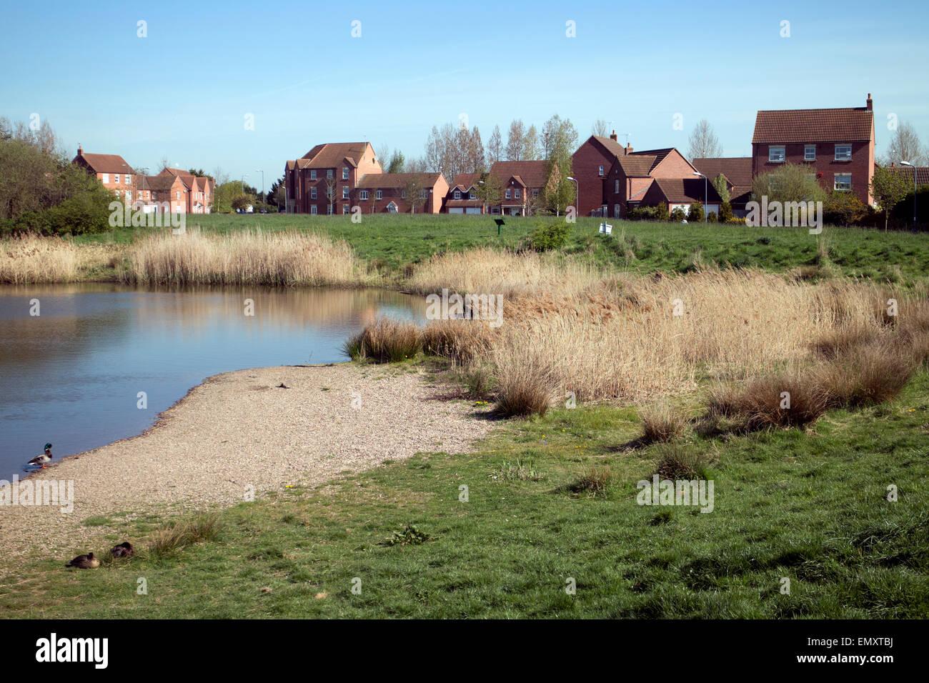 Gog Brook Farm pool, Chase Meadow, Warwick, Warwickshire, England, UK Stock Photo