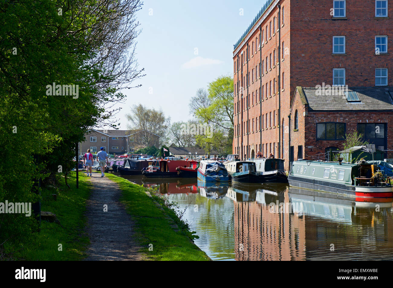 The Macclesfield Canal in Macclesfield, Cheshire, England UK - Stock Image