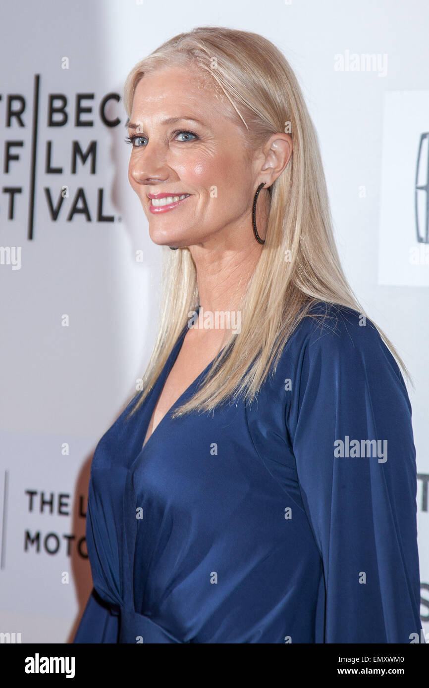 New York, USA. 22nd April, 2015. Actress Joely Richardson walks the red carpet during world premiere of ,,Maggie,, Stock Photo