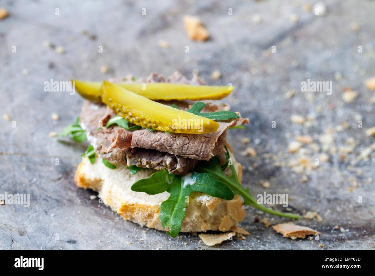 Roast beef sandwich - Stock Image
