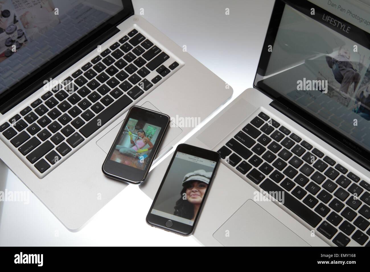 mobile technology Stock Photo
