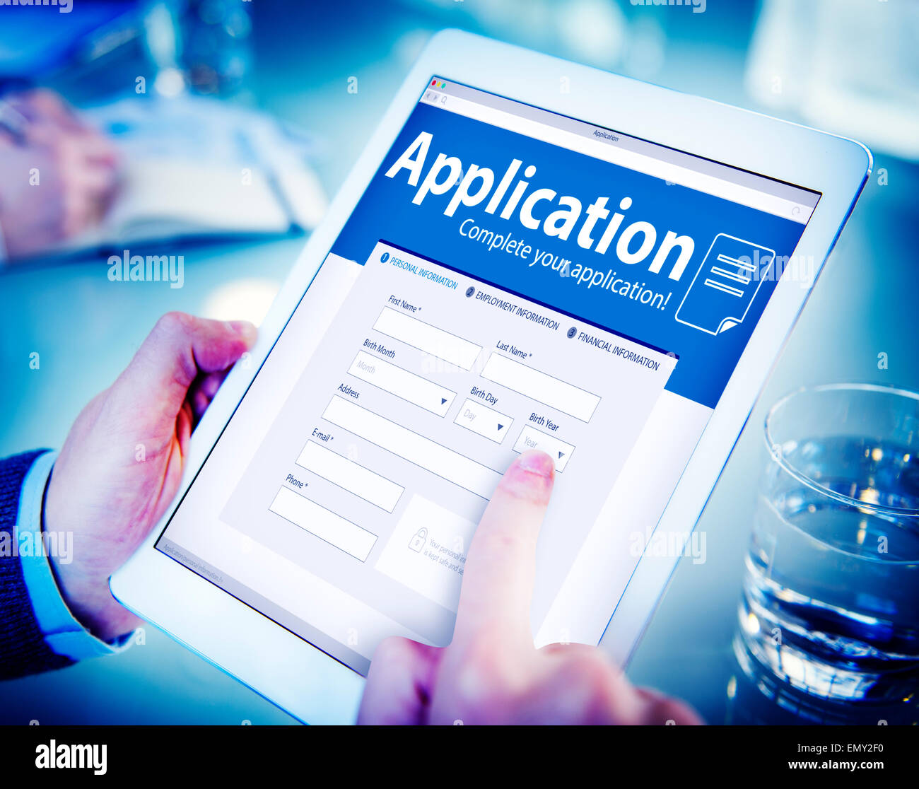 Application Human Resources Hiring Job Recruitment Employment Concept - Stock Image