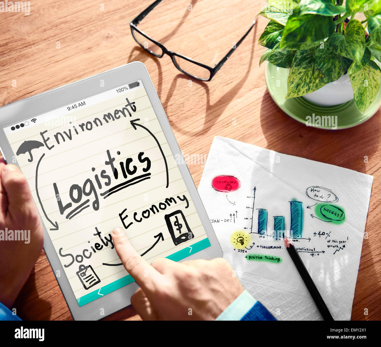 Business Logistics Courier Transportation Office Working Concept Stock Photo