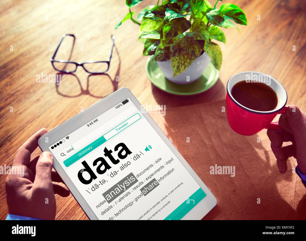 Data Definition Meaning Digital Information Stock Photos