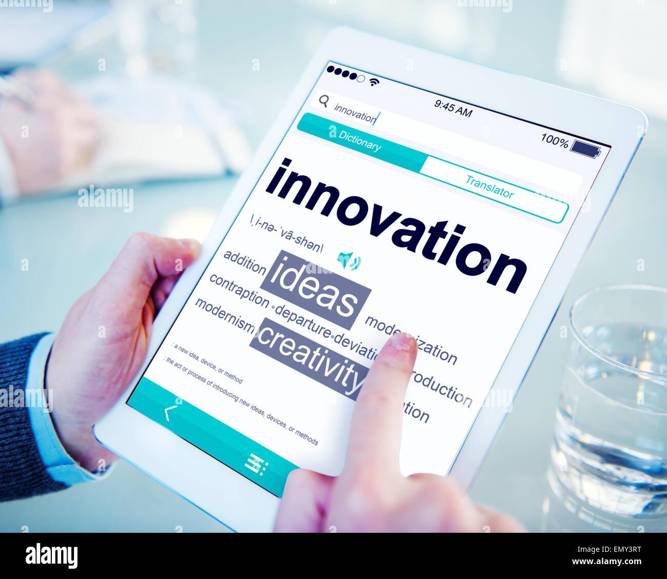 Digital Dictionary Innovation Ideas Creativity Concept - Stock Image