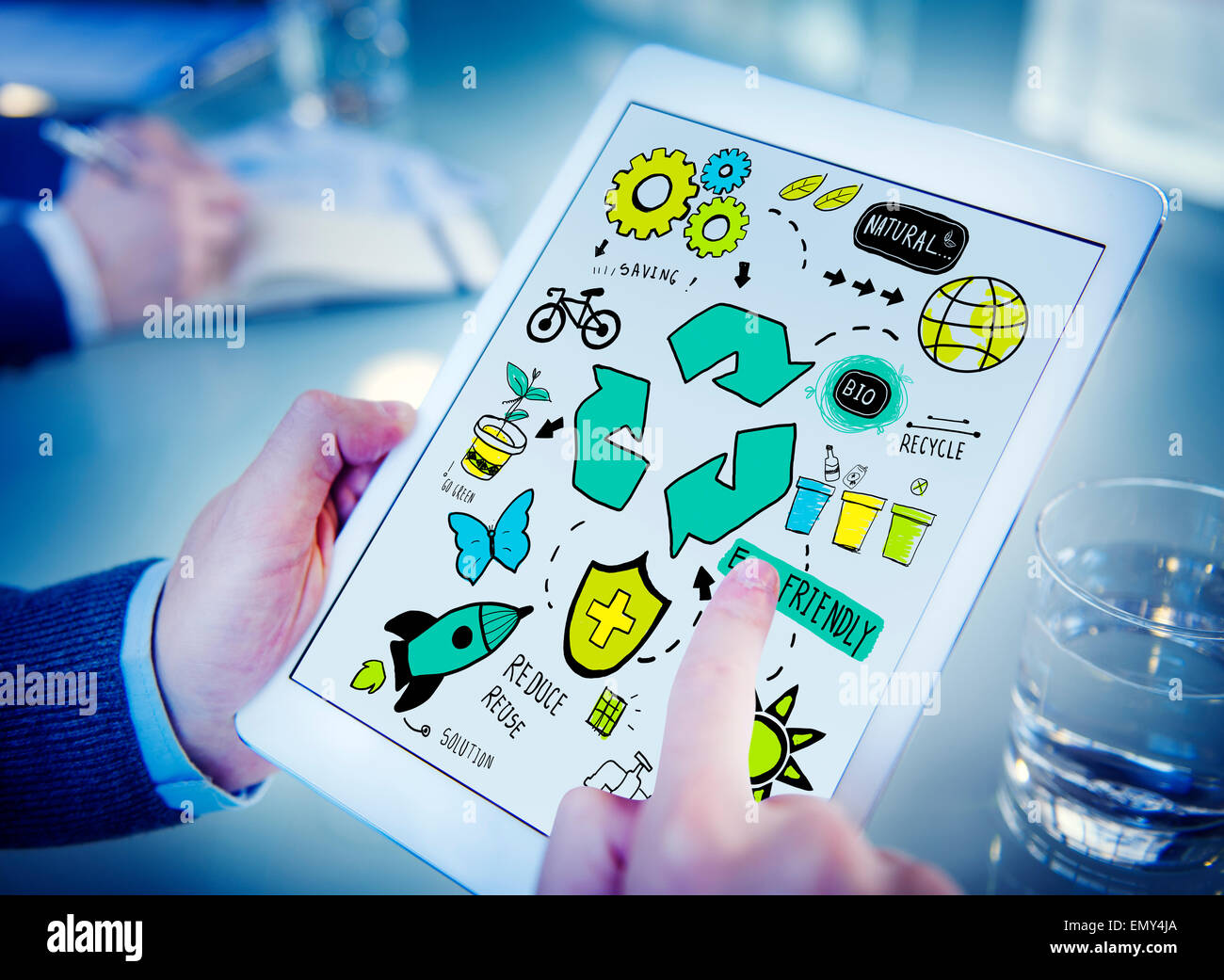 Recycle Reuse Reduce Bio Eco Friendly Environment Concept - Stock Image