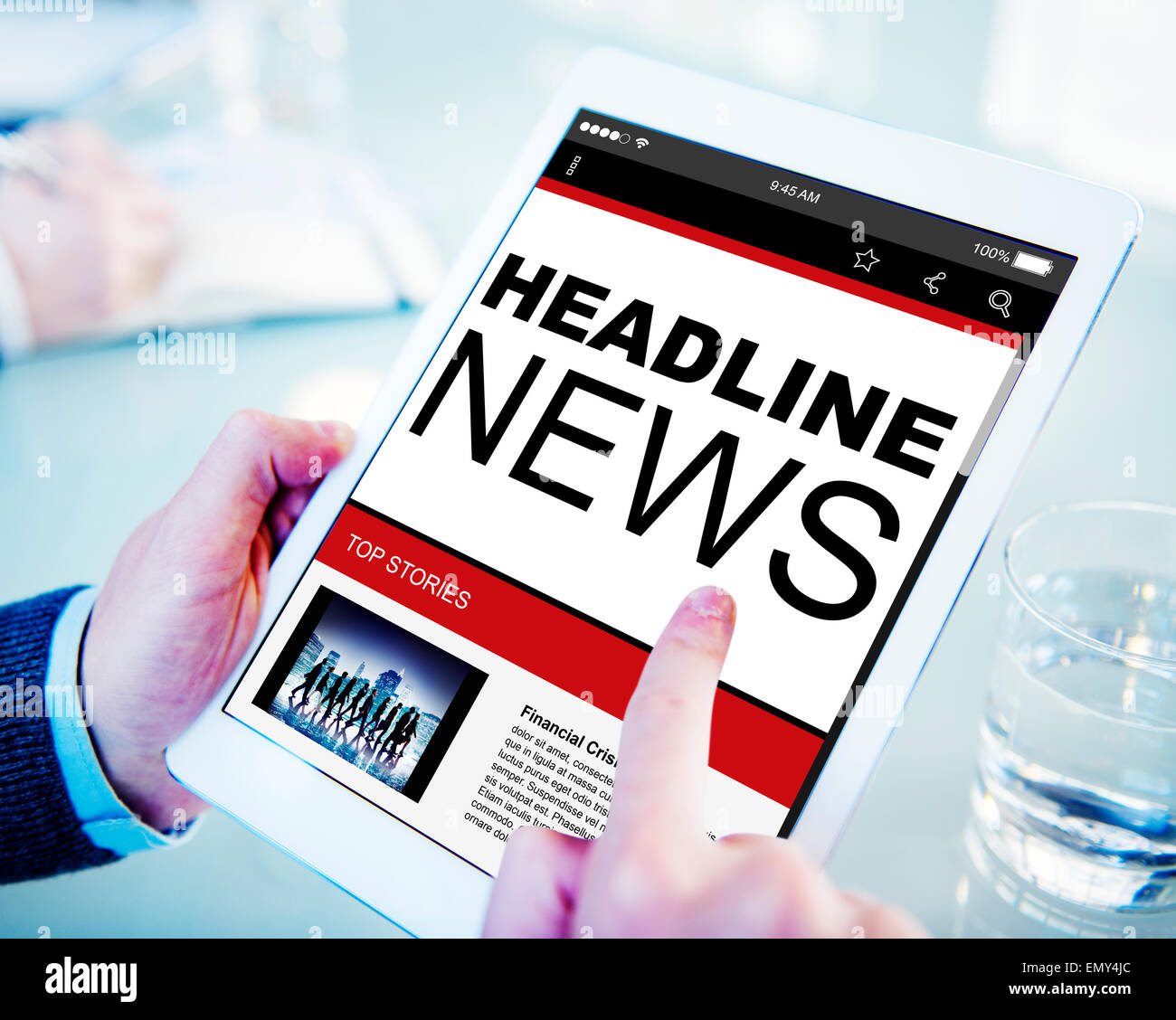 Headline News Top Stories Online Concepts - Stock Image