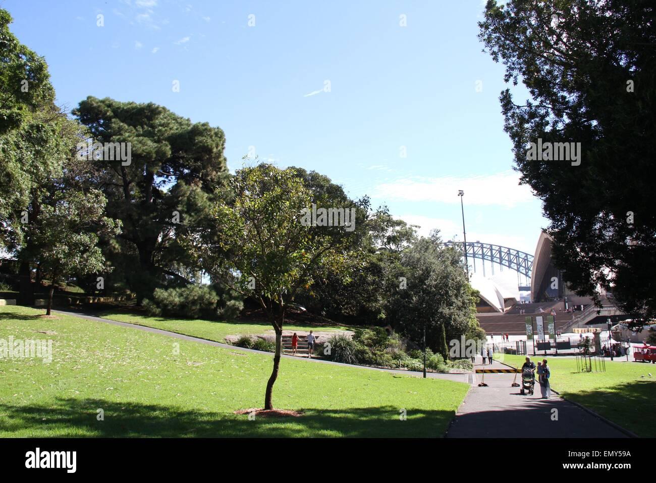 Sydney, Australia. 24 April 2015. The Royal Botanic Garden. Credit: Richard Milnes/Alamy - Stock Image