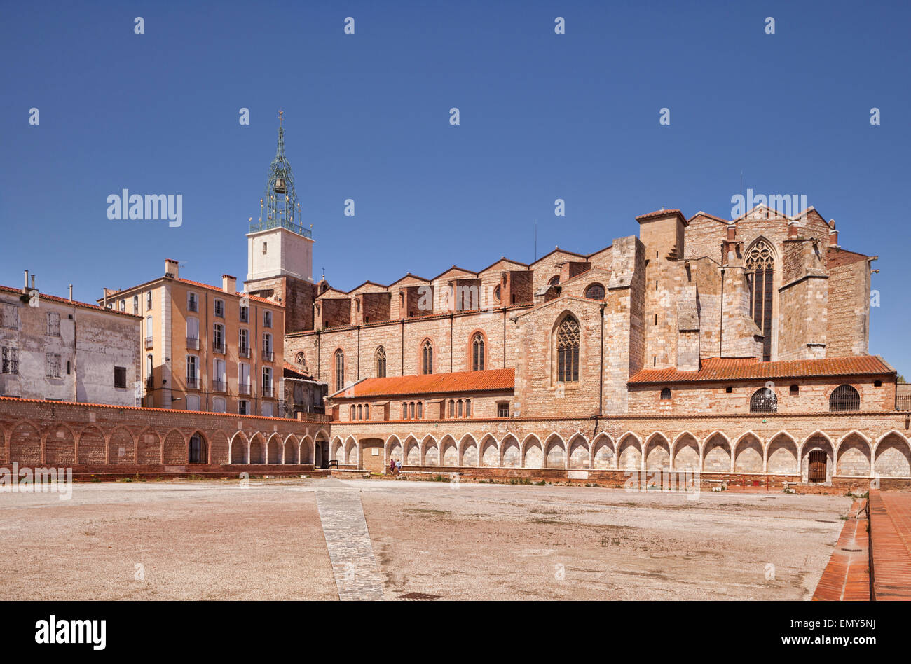 Campo Santo Funeraria and Cathedral Basilica of Saint John the Baptist of Perpignan, Languedoc-Roussillon,Pyrenees - Stock Image