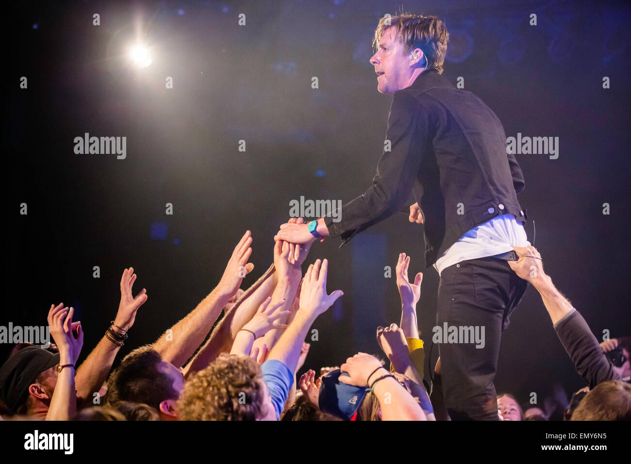 Ricky Wilson of the Kaiser Chiefs at The Commodore Ballroom in Vancouver, British Columbia, Canada on April 21st - Stock Image