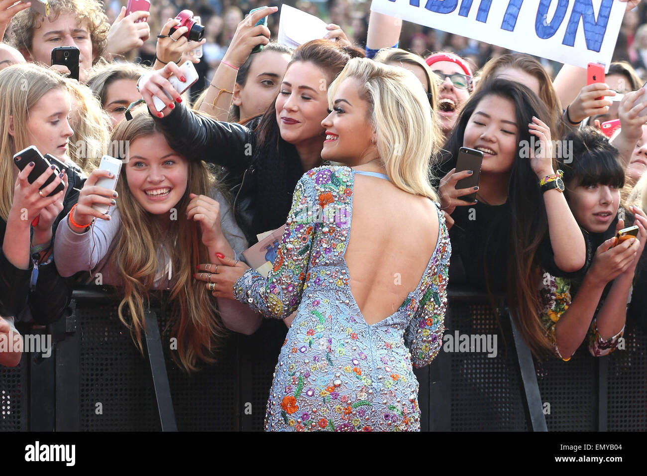 BBC Radio 1's Teen Awards held at Wembley Arena - Arrivals  Featuring: Rita Ora Where: London, United Kingdom - Stock Image