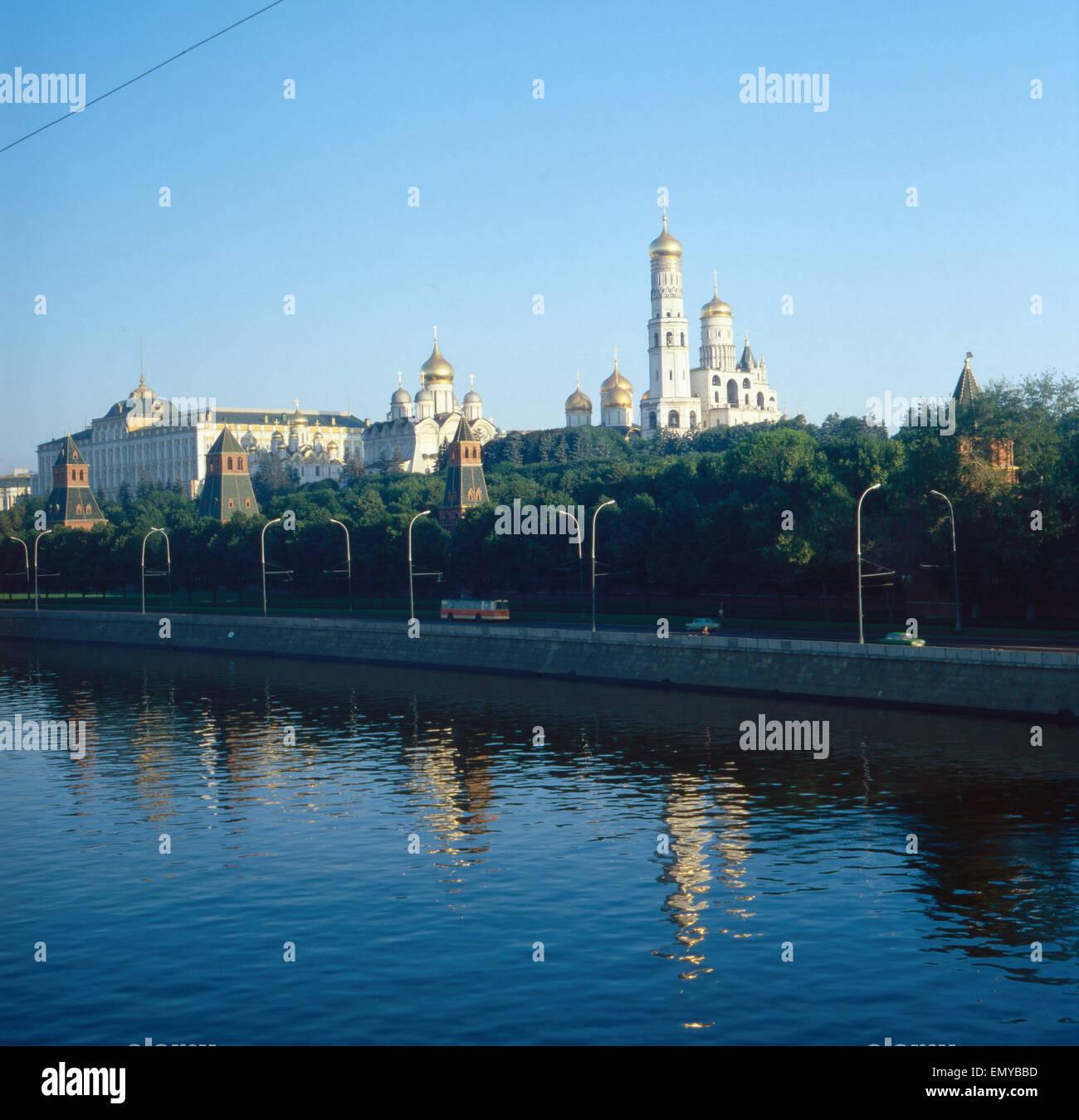 Eine Reise nach Moskau, Russland 1980er Jahre. Trip to Moscow, Russia 1980s. Stock Photo