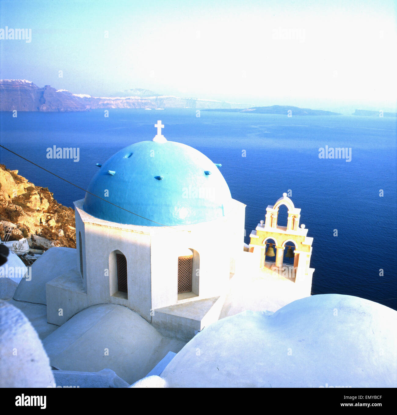 Eine Reise nach Santorin, Griechenland 1980er Jahre. Trip to Santorin, Greece 1980s. - Stock Image