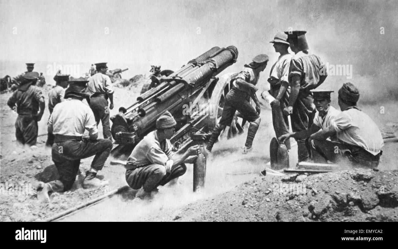 British battery during Gallipoli campaign - Stock Image