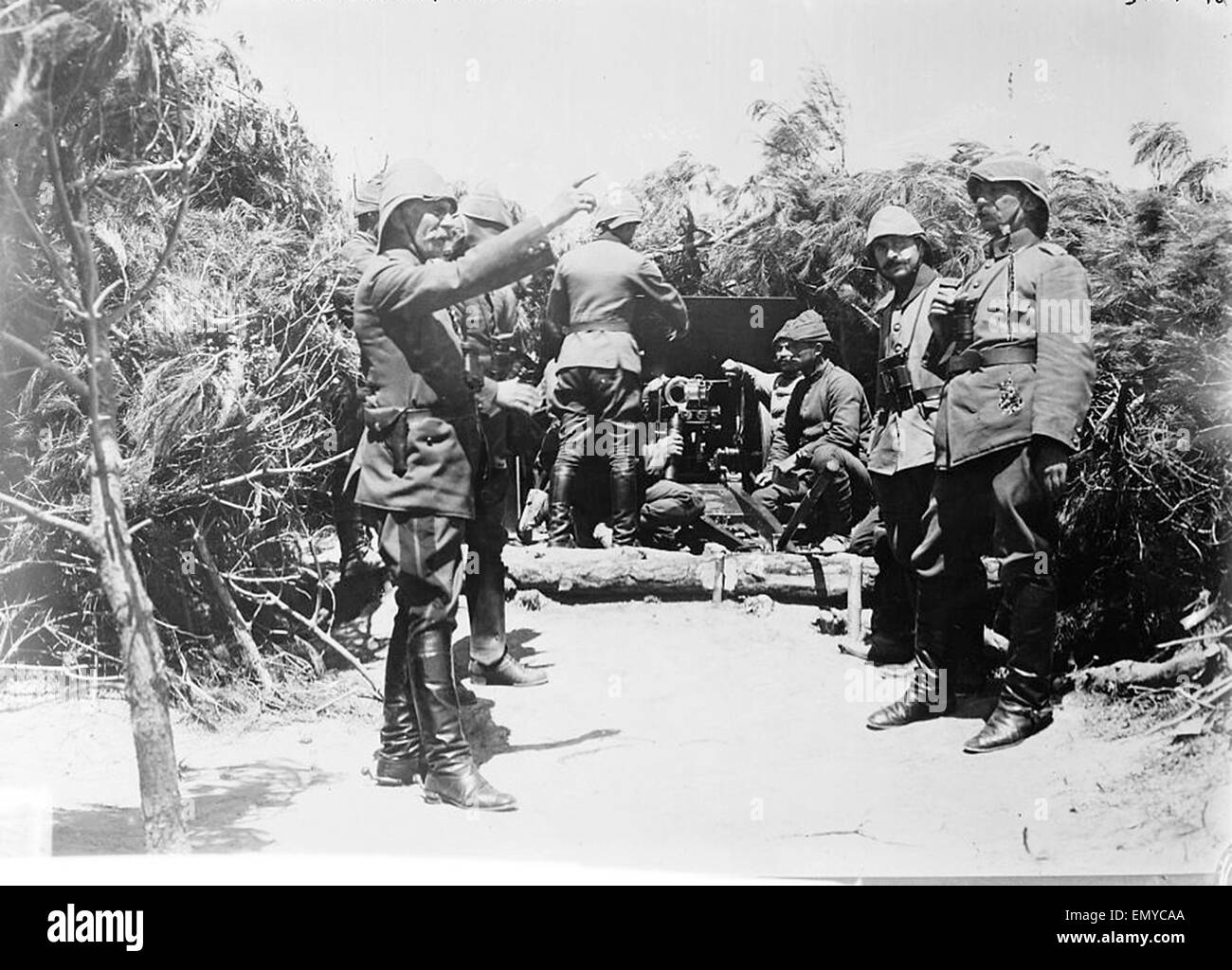 Turkish battery during Gallipoli campaign - Stock Image