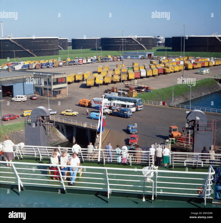 Eine Reise nach Rotterdam, Holland, 1980er Jahre. A trip to Rotterdam, Netherlands, 1980s. Stock Photo
