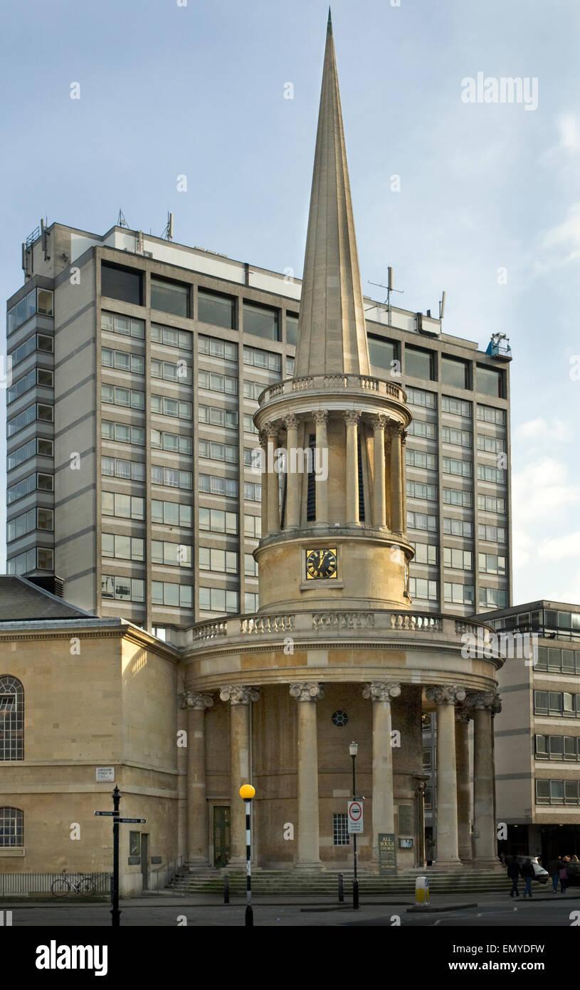 All Souls Church Langham Place London Stock Photo
