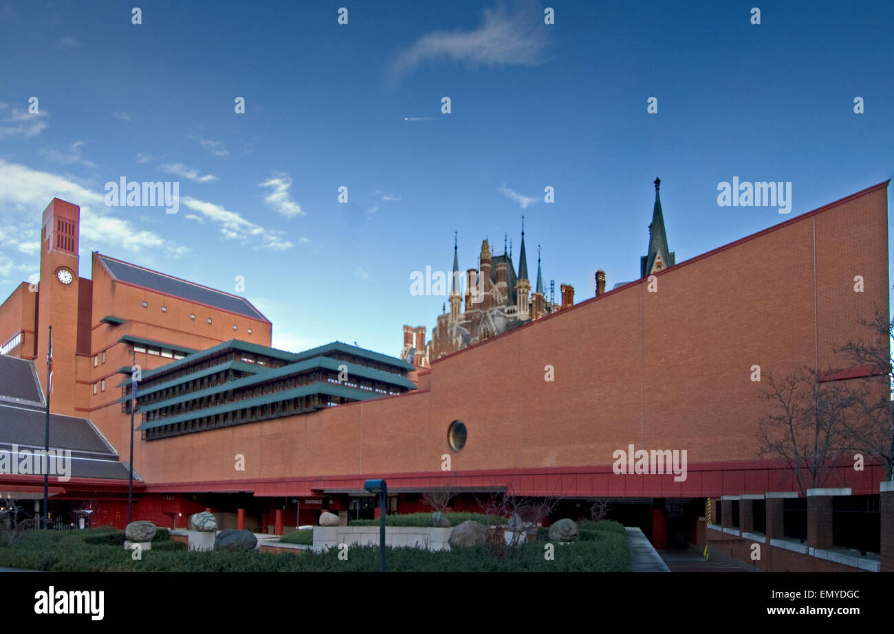 The Ship British Library St. Pancras London Sir Colin St John Wilson 1997 - Stock Image