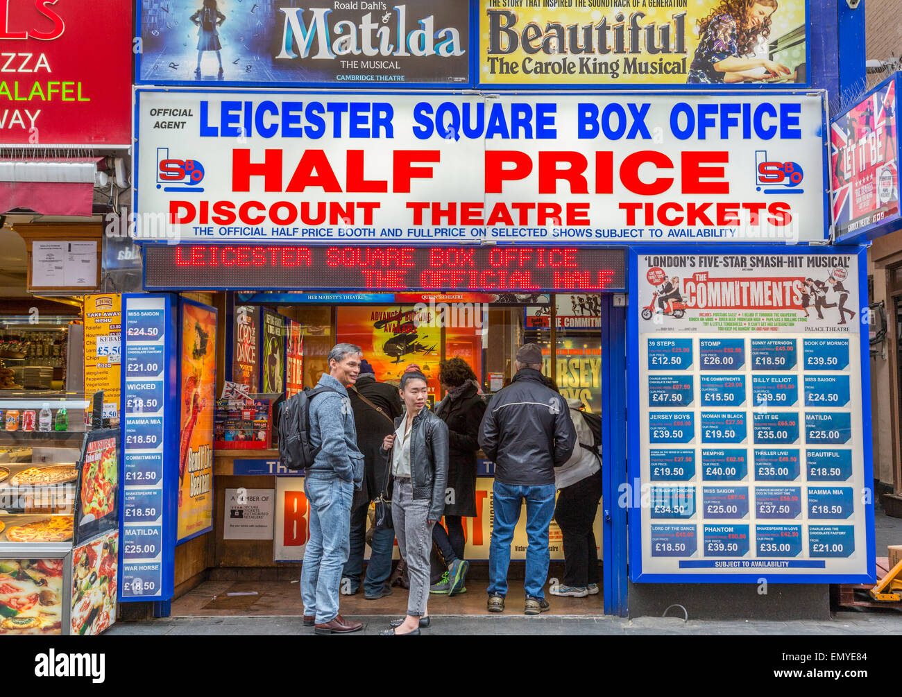 Leicester Square Box Office Theatre Tickets - Stock Image
