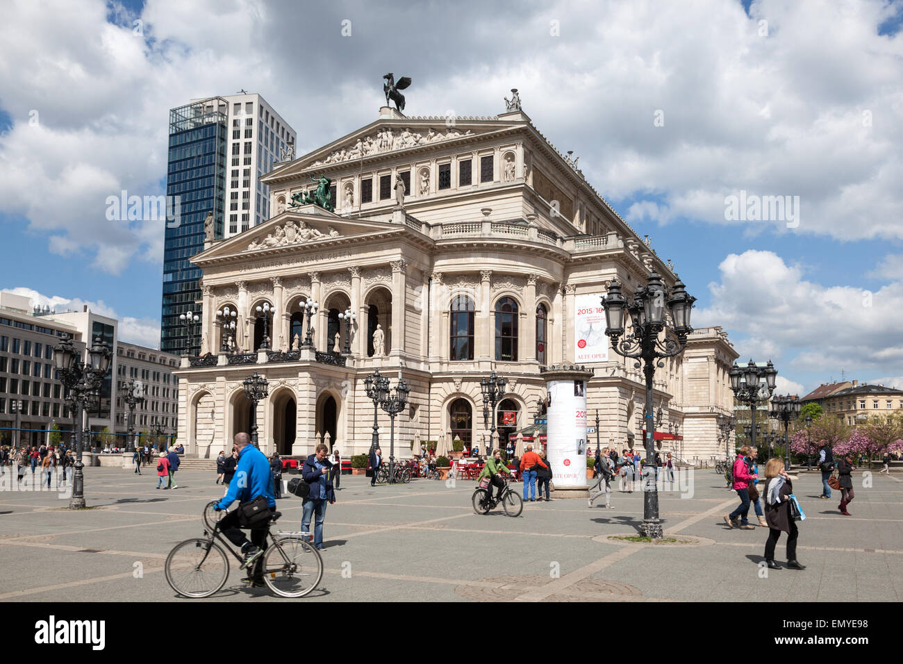 The Alte Oper - a concert hall and former opera house in Frankfurt am Main, Germany - Stock Image