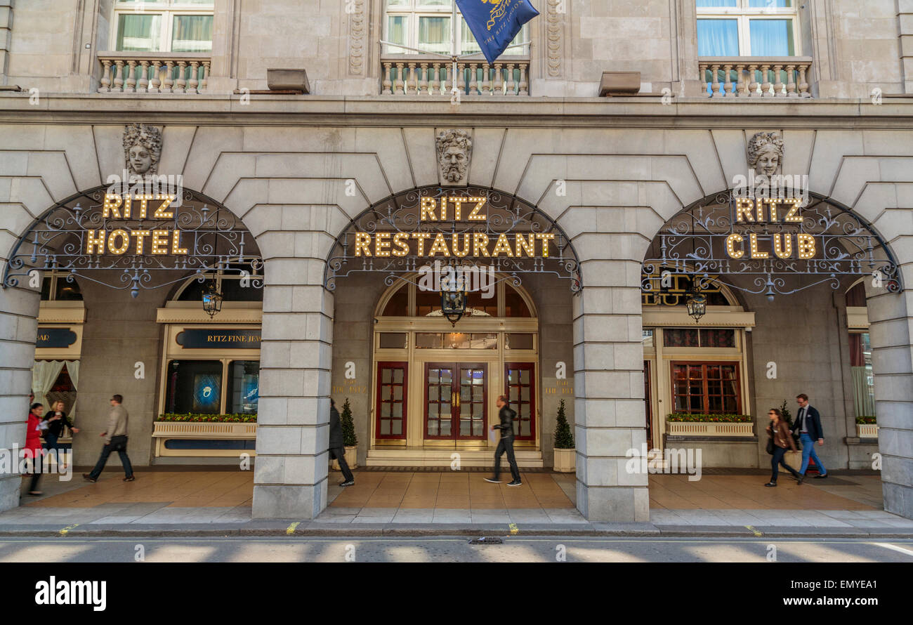 A Landscape view of the 5 Star luxury Ritz Hotel Piccadilly London England UK - Stock Image