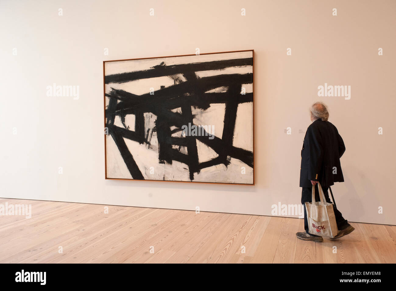 New York, New York, USA. 23rd Apr, 2015. A painting by Franz Kline called 'Mahoning' hangs in the new home - Stock Image