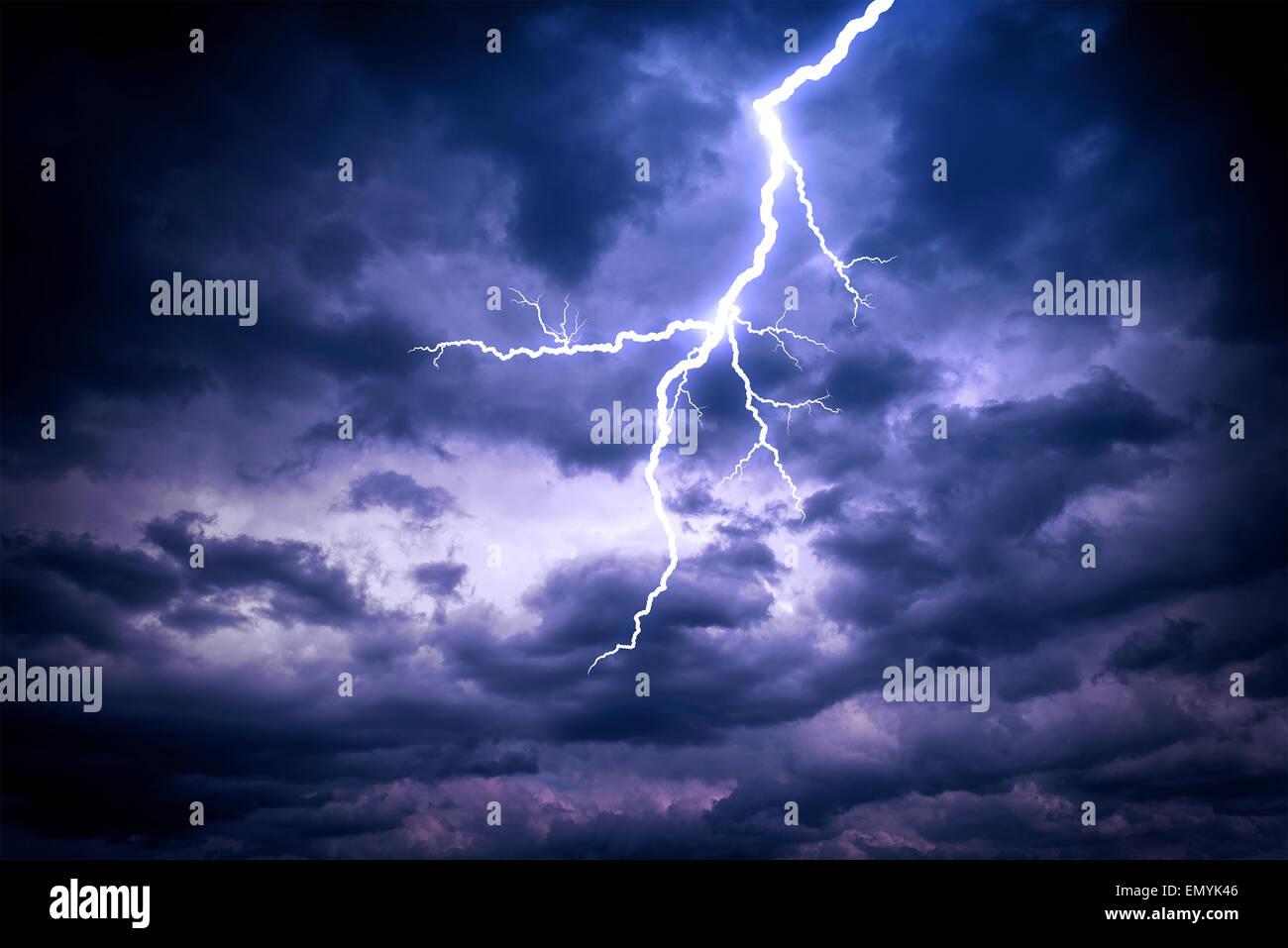 Lightning strike - Stock Image