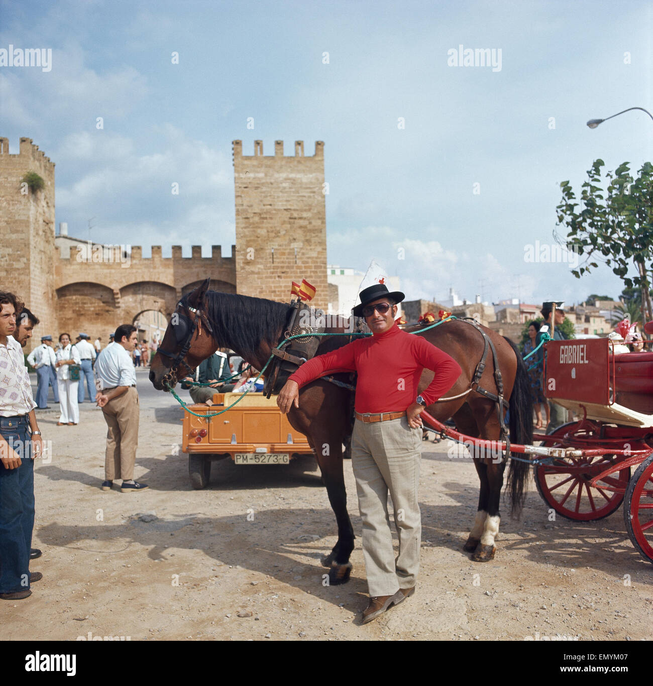 Mallorca, Alcudia, spanischer Kutscher Stock Photo