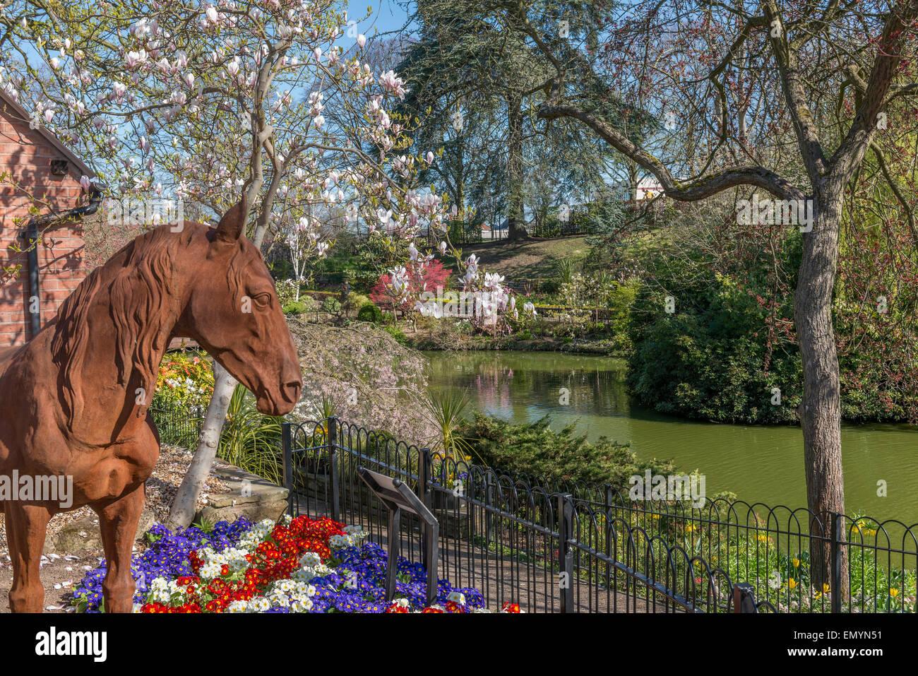 The Dingle at Quarry Park in Springtime. Shrewsbury. Shropshire. UK - Stock Image