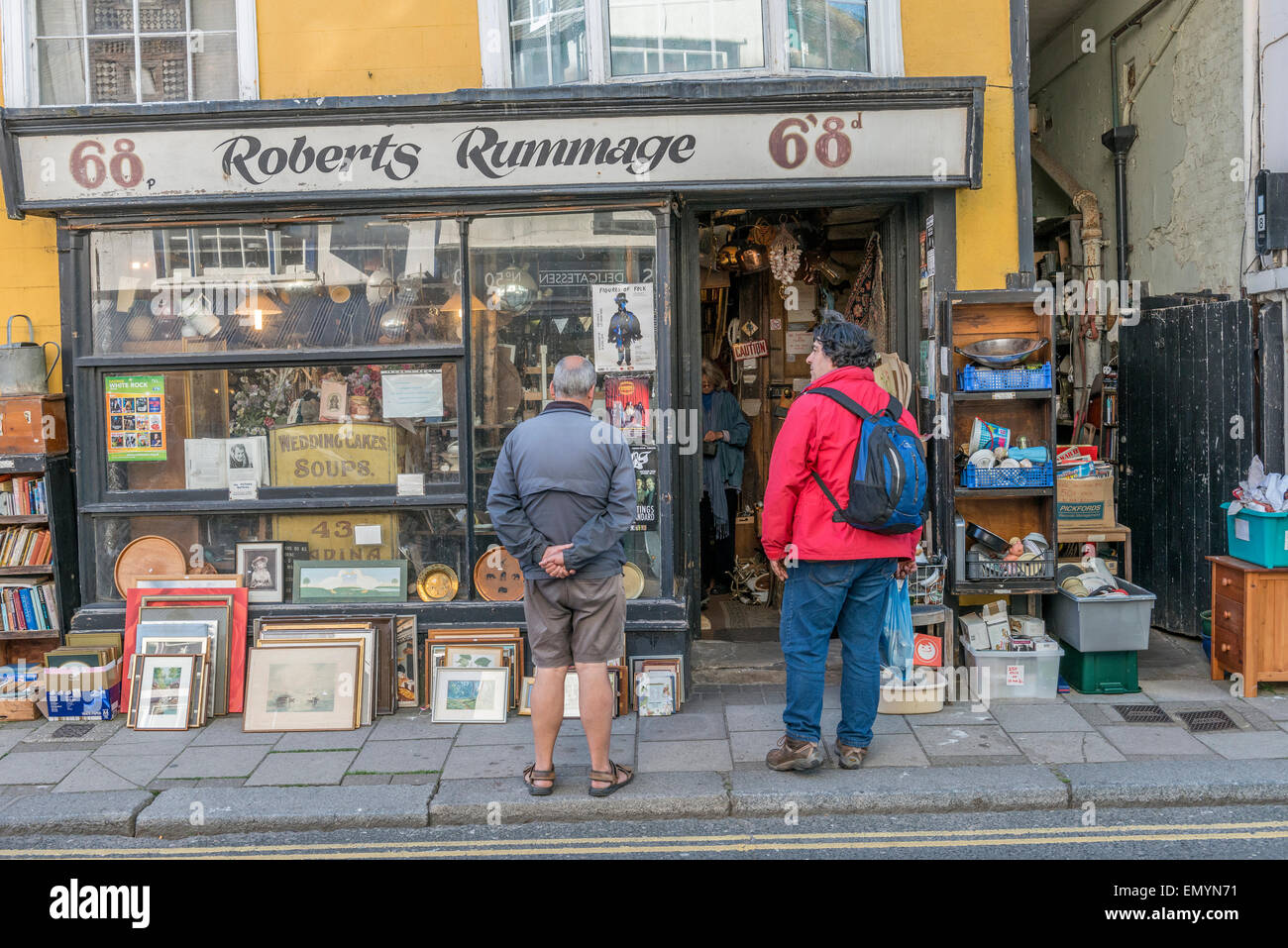 Junk shop. Old town. Hastings. East Sussex. UK - Stock Image