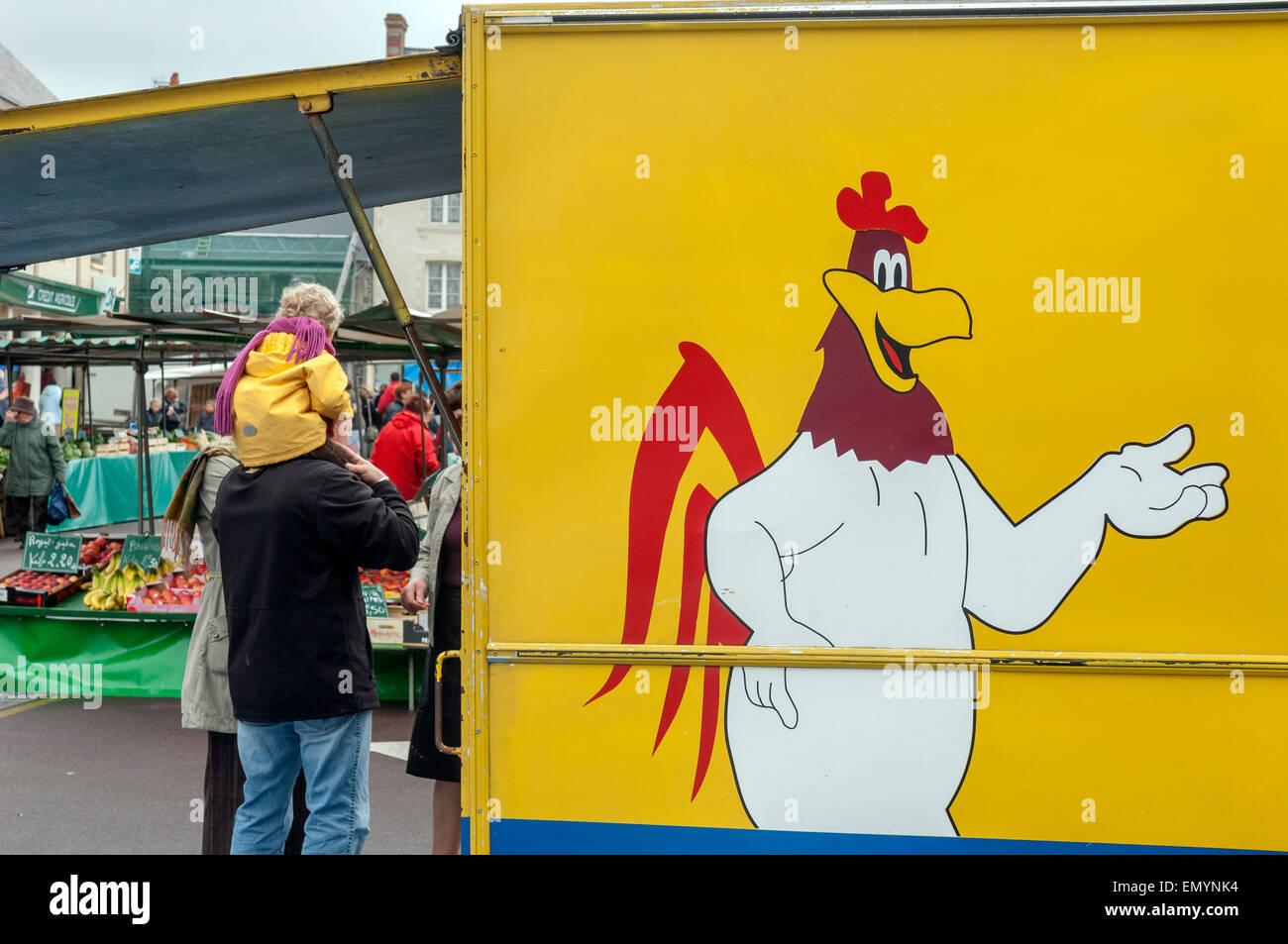 Market day at Barneville-Carteret. Cotentin peninsular. Manche. Normandy. France Stock Photo